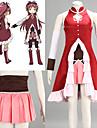 Inspirerad av Puella Magi Madoka Magica Kyoko Sakura Animé Cosplay Kostymer/Dräkter cosplay Suits Lappverk RödBröstplåt / Kjol / Klänning