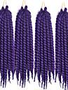 Röd havana twist Flätor Hårförlängningar 24inch Kanekalon 2 Strå 75-80g/pcs gram Hair Braids