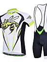 CHEJI Men Cycling Bike Breathable Quick Dry Bib Short Sleeve Clothing Bicycle Sports Wear Jersey Bib Shorts Suit