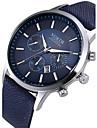 Bărbați Ceas Elegant Ceas La Modă Ceas de Mână Quartz Calendar Piele Bandă Negru Alb Albastru Alb Negru Cafea Albastru