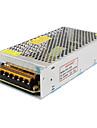 SPD-120w accessoires 12v10a de videosurveillance du systeme de camera transformateur d\'alimentation en metal - argent (AC 110-220V)