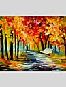 HANDMÅLAD Abstrakta landskapModerna / Klassisk / Realism / Parfymerad / Europeisk Stil En panel Kanvas Hang målad oljemålning For
