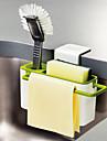 kök borste svamp diskbänk dränering handduk tvätt hållare med sugkopp redskap torra rack slumpmässig färg