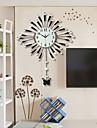 Nouveaute / Autres Moderne/Contemporain Horloge murale , Fleurs / Botaniques / Animaux / Paysage / Mariage / Famille Verre / Metal90cm x