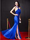 ts couture® balen formell klänning slida / kolumn grimma golvet längd chiffong / stretch satin