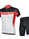 CHEJI® Cykeltröja med shorts Herr Kort ärm CykelAndningsfunktion / Snabb tork / Ultraviolet Resistant / Ultratunt tyg / Svettavvisande /