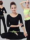Yoga Klädesset/Kostymer Andningsfunktion / Mjukhet Stretch Fotbollströjor Dam-Sport,Yoga / Pilates