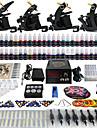 Solong tatuering komplett tattoo kit 4 pro maskiner 54 bläck strömförsörjning fotpedal nålar handtag tips tk457