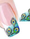 2 Autocollant d\'art de clou Autocollants de transfert de l\'eau Autocollants 3D pour ongles Autre decorations Fleur Abstrait Mariage