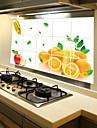 avtagbar kök oilproof väggdekorationer med orange frukt stil vattenavvisande hem konst dekaler