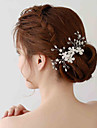 Mujer Diamantes Sinteticos / Cristal / Aleacion / Perla Artificial Celada-Boda / Ocasion especial Flores / Clip de Pelo 1 Pieza
