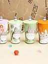 6 tum japanska tecknade totoro kopp keramikmugg med lock (slumpvis färg)