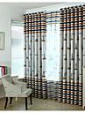 Två paneler Rustik / Modern / Nyklassisistisk / Medelhavet / Europeisk Nyhet / Tecknat Beige / Blå / Röd / Kaffe Bedroom Polyester