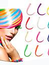 lång syntetisk rak och klipp i hårförlängningar med 1 clips 14 färg