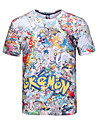 Inspire par Pocket Little Monster PIKA PIKA Manga Costumes de Cosplay Cosplay T-shirt Imprime Blanc Manche Courtes Manches Ajustees Pour