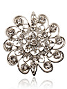Silver Plated/Rhinestone Brooch/Simple Hollow Flower Brooch/Casual/Party/Daily 1PC