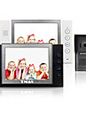 "tmax® 8 ""lcd video porttelefon SD-kort inspelning med 600tvl hd ir kamera (1camera till 2monitors)"
