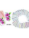 50 Autocollant d\'art de clou Autocollants de transfert de l\'eau Autocollants 3D pour ongles Fleur Maquillage cosmetique Nail Art Design