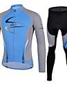 CHEJI® Maillot et Cuissard Long de Cyclisme Homme Manches longues VeloRespirable / Sechage rapide / Resistant aux ultraviolets /
