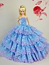 Fete / Soiree Robes Pour Poupee Barbie Bleu Ciel Robes Pour Fille de Doll Toy