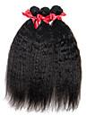 evet brazilian 100% vrais cheveux humains vierge non transformes tisser des extensions droites crepus 3 bundles