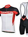 CHEJI® Cykeltröja med Bib-shorts Herr Kort ärm Cykel Andningsfunktion / Snabb tork / Ultraviolet Resistant / 3D Pad / Begränsar bakterier