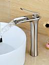 Lavabo Single Handle un foro in Nickel spazzolato Lavandino rubinetto del bagno