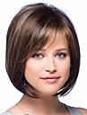 nyanländ mode bob stil rakt brun med höjdpunkter syntetiskt hår peruk fri frakt