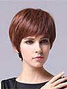korta raka syntetiska peruker förlängningar brun färg kvinnor dam elegant stil
