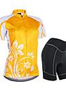 Nuckily Maillot et Cuissard de Cyclisme Femme Manches courtes Velo Manchettes Maillot Cuissard  / Short Ensemble de VetementsEtanche