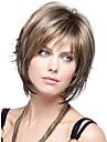 nya kvinnor lady korta syntetiska peruker pixie cut rakt hår brunmelerad peruk