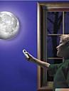 interieur lampe conduit mural lune avec telecommande detente guerison lumiere lune
