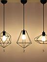 Max 60W Hängande lampor ,  Rustik Målning Särdrag for designers MetallLiving Room / Bedroom / Dining Room / Skaka pennan och tryck på