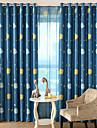 Deux Panneaux Le traitement de fenetre Moderne , Bande dessinee chambre d\'enfants Polyester Materiel Rideaux occultants rideauxDecoration