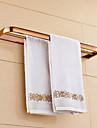 Barre porte-serviette Ti-PVD Fixation Murale 22.4*4.1*1.1 inch Laiton Contemporain