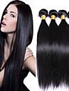 peruanska jungfru hår 4st 200g rakt människohår väver naturligt svart peruanska rakt hår 8-26 tum