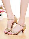 Zapatos de baile(Plata / Oro) -Latino / Salsa-Personalizables-Tacon Personalizado