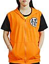 Inspire par Dragon Ball Son Goku Anime Costumes de cosplay Cosplay T-shirt Imprime Jaune Manche Courtes Manteau