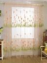 Un Panou Țara Floral / Botanic Ca în Poză Sufragerie Poliester Sheer Perdele Shades