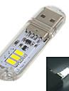 mlsled® USB 2.0 1W 60lm 3x5730 ledde vitt ljus usb lampa w / pekknapp