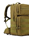 55L L Backpacker-ryggsäckar / ryggsäck Camping / Resa Utomhus Vattentät / Bärbar Brun Nylon OEM