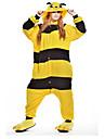 Kigurumi Pyjamas nya Cosplay® / Bi Leotard/Onesie Halloween Animal Sovplagg Gul Lappverk Polar Fleece Kigurumi UnisexHalloween / Jul /