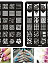 1pcs nouveaux modeles d\'art 20styles d\'estampage a ongles fashion dentelle fleurs stencil diy timbre plaques outils de peinture d\'image