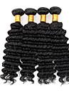 """4st mycket 8 """"-30"""" brasilianska jungfru hår djup våg naturligt svart lockigt människohår väva buntar skjul&trasselfri"""