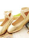 Damskor-Konstläder-Platt klack-Fyrkantig tå-Platt sko-Fritid-Svart / Rosa / Silverfärgad / Guldfärgad