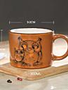 handmålade keramik kopp stora muggar personlighet kaffekopp retro restaurang tekopp 300 ml