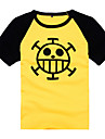 Inspire par One Piece Trafalgar Law Manga Costumes de Cosplay Cosplay T-shirt Imprime Manches Courtes Manteau Pour Masculin Feminin