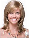 det nya Europa och Förenta staterna lin guld långt rakt hår syntetisk peruk.
