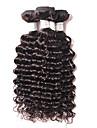 4bundles 8-26inch brasilianska djupa våg hårförlängningar, verklig mänsklig remy jungfru hårväv, högsta kvalitet naturligt svart hår.