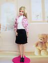 Informel Robes Pour Poupee Barbie Rose Robes Pour Fille de Doll Toy